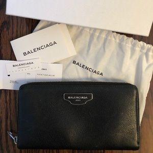 Authentic Balenciaga Black Leather Wallet